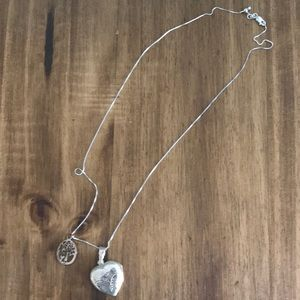 Sterling Silver Locket/Tree of Life charm/chain